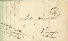 REGNO DI SARDEGNA-PREF. Con Testo- NOVARA PER VINZAGLIO -1859-POSTE NOVARA-UFF.AMB.V.E.(1) SEZ. TICINO (1)-BORGOVERCELLI - Sardaigne