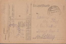 German Feldpost WW1: From Champagne (France) Infanterie Regiment 468 To Kolobrzeg (Poland) 1. Ersatz Batteri - WW1