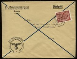 WW II GG Generalgouvernement Polen Dienstpost Briefumschlag: Gebraucht Krakau - Radom 1940 , Bedarfserhaltung , Versan - Germany