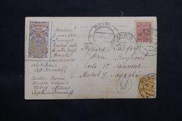 RUSSIE - Affranchissement Et Vignette De Rovno Sur Carte Postale En 1914 Pour Beyrouth ( Liban ) - L 65967 - 1857-1916 Empire