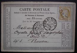 Montpellier 1874 GC 2502 Carte Précurseur Pour Rouen. - 1849-1876: Periodo Clásico