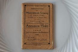 3210/ Annuaire 1946 -Liste Et Adresse Musiciens De SERAING&Environs - Livres, BD, Revues
