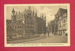 C.P. Leuven = Table Ronde - Hôtel De Ville - Eglise St Pierre - Leuven