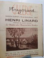 CPA 57 METZ INVITATION VERNISSAGE HENRI LINARD GALERIE FRAGONARD MAISON GUENOT RUE STE MARIE DECEMBRE 1949 - Inaugurazioni