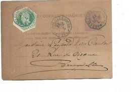 SH 0587. CP 9 + TG 4 Cachet Octogonal BLEU BRUXELLES (LUXEMBOURG) 7 MARS 77 En EXPRES. TB Et Peu Courant - Postcards [1871-09]