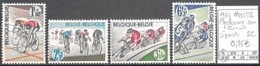 D - [846604]TB//**/Mnh-Belgique 1963 - N° 1255/58, Cyclisme Sur Circuit, SC, Sports, Vélos - Cycling