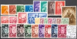 D - [846642]TB//*/Mh-c:18e-Belgique 1945 - Année Complète */mh Propre, Armoiries, Lions, Félins - Other