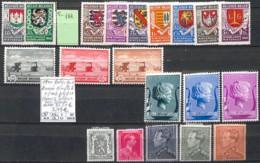 D - [846647]TB//*/Mh-c:26e-Belgique 1940 - Année Complète */mh Propre Sans Blocs Voir Scan, Armoiries, Familles Royales - Other