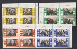 DDR 988-992 Eckränder + Oberränder 4er Block Jahrestag D. Befreiungskriege ** - DDR