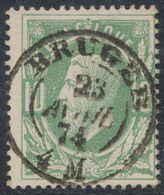 """émission 1869 - N°30 Obl Double Cercle (Dcb) """"Bruges"""" (1874). Superbe ! - 1869-1883 Leopoldo II"""