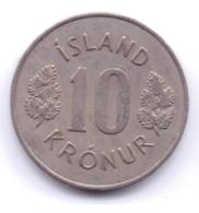 ICELAND 1969: 10 Kronur, KM 15 - Islanda