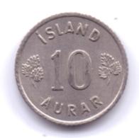 ICELAND 1966: 10 Aurar, KM 10 - Islanda
