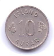 ICELAND 1965: 10 Aurar, KM 10 - Islanda