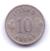 ICELAND 1961: 10 Aurar, KM 10 - Islanda