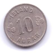 ICELAND 1960: 10 Aurar, KM 10 - Islanda