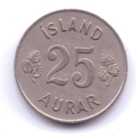 ICELAND 1959: 25 Aurar, KM 11 - Islanda