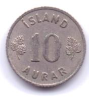 ICELAND 1959: 10 Aurar, KM 10 - Islanda
