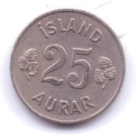 ICELAND 1958: 25 Aurar, KM 11 - Islanda