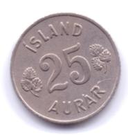 ICELAND 1957: 25 Aurar, KM 11 - Islanda