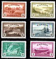 B321-Canada 1946 (++/+) MNH/LH - Solo Il Valore Da 8 Cent. Ha Una Leggera Traccia Di Linguella - Senza Difetti Occulti - - 1937-1952 Règne De George VI