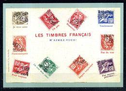 """ENTIER POSTAL LE LANGAGE DES TIMBRES LES TIMBRES FRANCAIS """" M'AIMEZ VOUS """"  NEUF   (U614) - Entiers Postaux"""