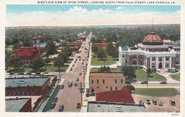 CPA - USA - Louisiana - Lake Charles - Bird's Eye View Of Ryan Street, Looking South From Pujo Street - Etats-Unis