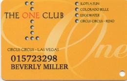 Carte Membre Casino : The One Club : Circus Circus LV + 4 Casinos - Carte Di Casinò