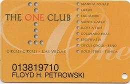 Carte Membre Casino : The One Club : Circus Circus LV + 9 Casinos - Carte Di Casinò