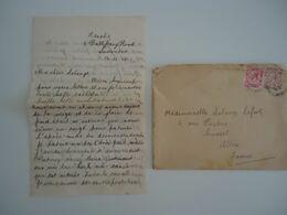 Grande-Bretagne 1919 - Lettre + Correspondance En Français Et Anglais - De Inverness, Ecosse à Cusset, Allier - Manoscritti