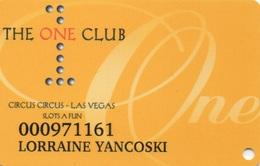 Carte Membre Casino : The One Club : Circus Circus LV + Slots-a-Fun LV - Carte Di Casinò
