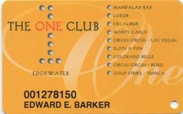 Carte Membre Casino : The One Club : Edgewater + 9 Casinos - Carte Di Casinò
