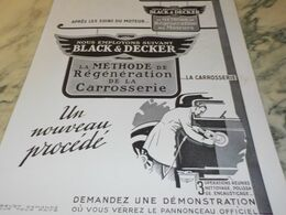 ANCIENNE PUBLICITE BLACK & DECKER REGENERATION DES MOTEURS  1930 - Other