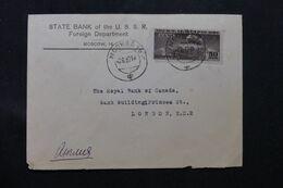 U.R.S.S. - Enveloppe Commerciale De Moscou Pour Londres En 1937, Affranchissement Zeppelin - L 65970 - 1923-1991 USSR