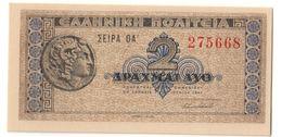 GREECE2DRACHMAI18/06/1941P318UNC.CV. - Greece