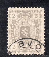 XP4302 - FINLANDIA 1881 , 2 P Grigio Unificato N. 13A Usato. Dent 12 1/2 - 1856-1917 Russian Government