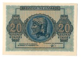 GREECE20DRACHMAI09/11/1944P323AUNC.CV. - Greece