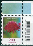 BRD - Mi 3556 ECKE REO - ** Postfrisch (E) - 200C       Blumen. Purpur-Knautie Ausg.: 6.8.20 - Unused Stamps