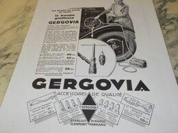 ANCIENNE PUBLICITE LA BOUGIE GONFLEUSE DE  GERGOVIA 1930 - Other