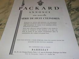 ANCIENNE PUBLICITE ANNONCE VOITURE PACKARD 1930 - Voitures