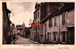 Epernon - Rue Du Grand Pont Et La Gare - 1937 - Epernon