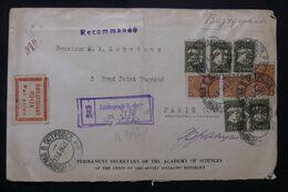U.R.S.S. - Enveloppe De L'Académie Des Sciences En Recommandé De Leningrad Pour Paris En 1934 Par Avion  - L 65973 - 1923-1991 USSR