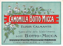 "09266  ""CAMOMILLA BOTTO MICCA - DOTT. BOTTO - MICCA TORINO"" ETICH. ORIG. - Other"