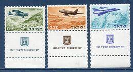 Israël - YT N° 334 à 336 - Neuf Sans Charnière - 1967 - Neufs (avec Tabs)