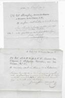 2 Lettres De PARIS Documents MONGALVY Directeur Des Diligences Messageries P/ Valencienne AN 5 Et AN 9 - Storia Postale