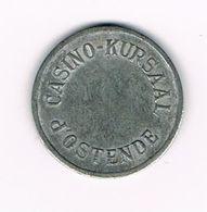 // OUDE  JETON 1 CASINO-KURSAAL D'OSTENDE - Casino