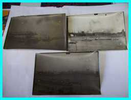 GUERRE 1914 1918 OCCUPATION ALLEMAGNE 33e RAO Aviation Observation 3 Photos Aérienne 1921 Port RHIN DUISBOURG DUISBURG - War 1914-18