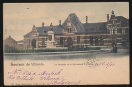 VILVOORDE  LA STATION ET LE MONUMENT PORTAELS  COULEUR - Vilvoorde