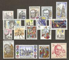 Slovaquie  1993/9 - Petit Lot De 18 - Majorité NSG - Briefmarken