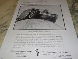ANCIENNE PUBLICITE VOITURE LA NOUVELLE PEERLESS 1930 - Voitures