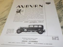 ANCIENNE PUBLICITE VOITURE AUBURN 1930 - Voitures